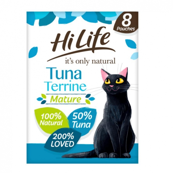 HiLife Natural Tuna Terrine Pouches for Mature Cats