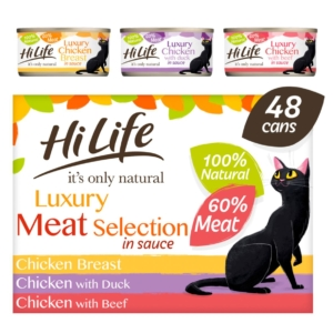 HiLife Natural Luxury Meat Selection Tins 48 x 70gm (Grain Free)