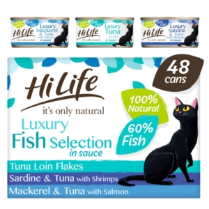 HiLife Natural Luxury Fish Selection Tins 48 x 70gm (Grain Free)