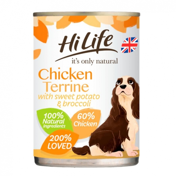 HiLife Natural Chicken Terrine for Dogs 395gm