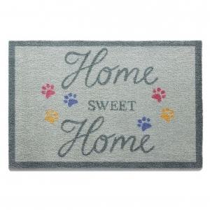 """Howler & Scratch Pet Mat """"Sweet Home 1"""" Blue"""