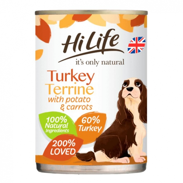 HiLife Natural Turkey Terrine for Dogs 395gm
