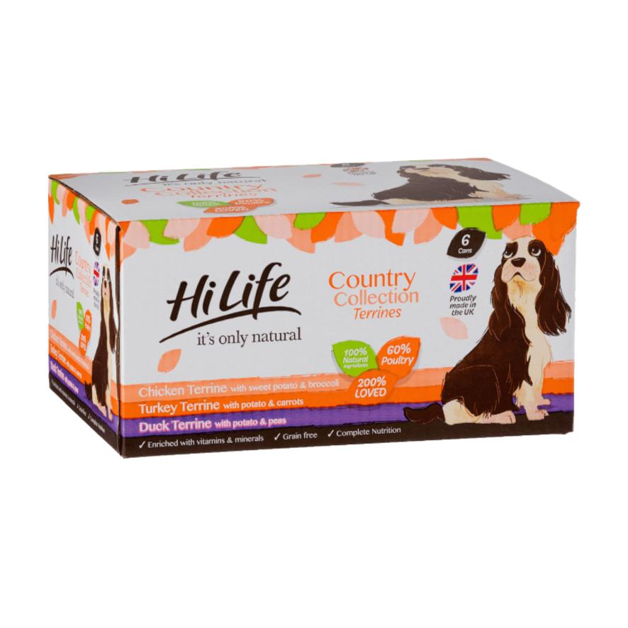 HiLife Natural Country Collection Terrines for Dogs 12 x 395gm (Grain Free)  616874