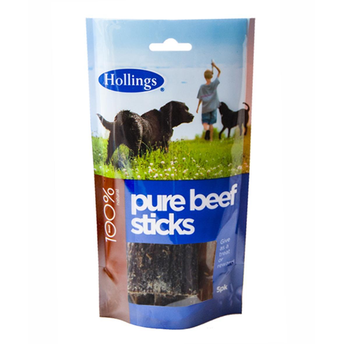 Hollings Pure Beef Sticks 5pcs