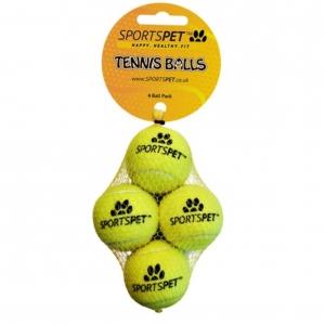 SportsPet Mini Tennis Balls 4pcs