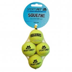 SportsPet Mini Squeak Balls 4pcs