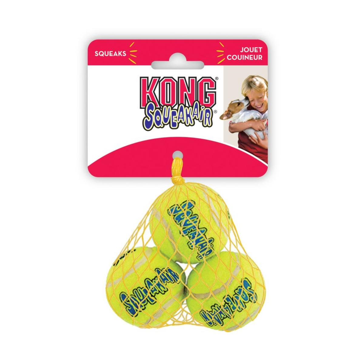KONG SqueakAir Tennis Balls XS 1.5″ 3pcs