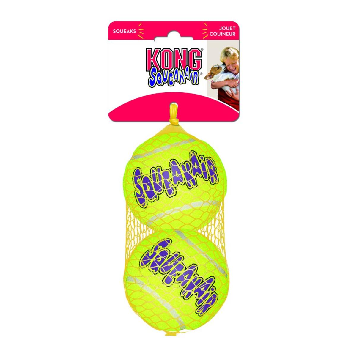 KONG SqueakAir Tennis Balls LARGE 3″ 2pcs