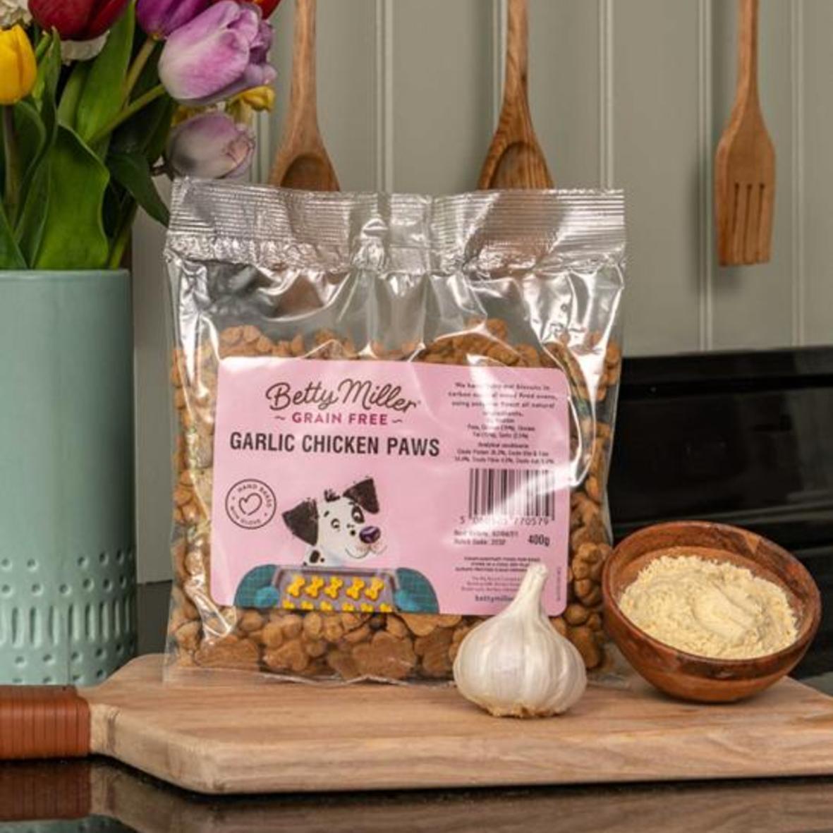 Betty Miller Garlic Chicken Paws 400gm