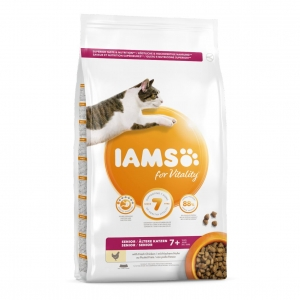 IAMS for Vitality Senior Cat with Fresh Chicken