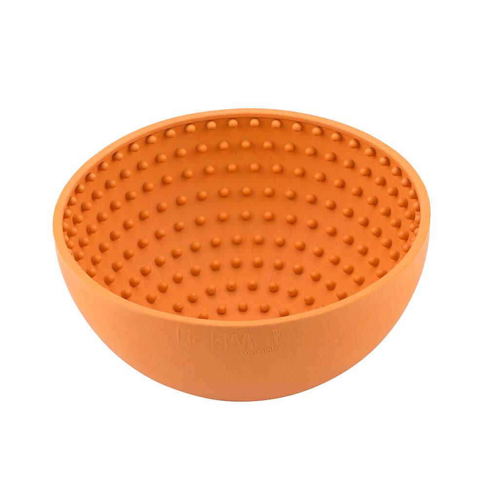 LickiMat WOBBLE Treat Bowl Orange