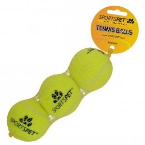 SportsPet Tennis Balls 3-Pack