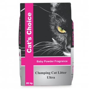 Cats Choice Clumping Litter Ultra - Baby Powder