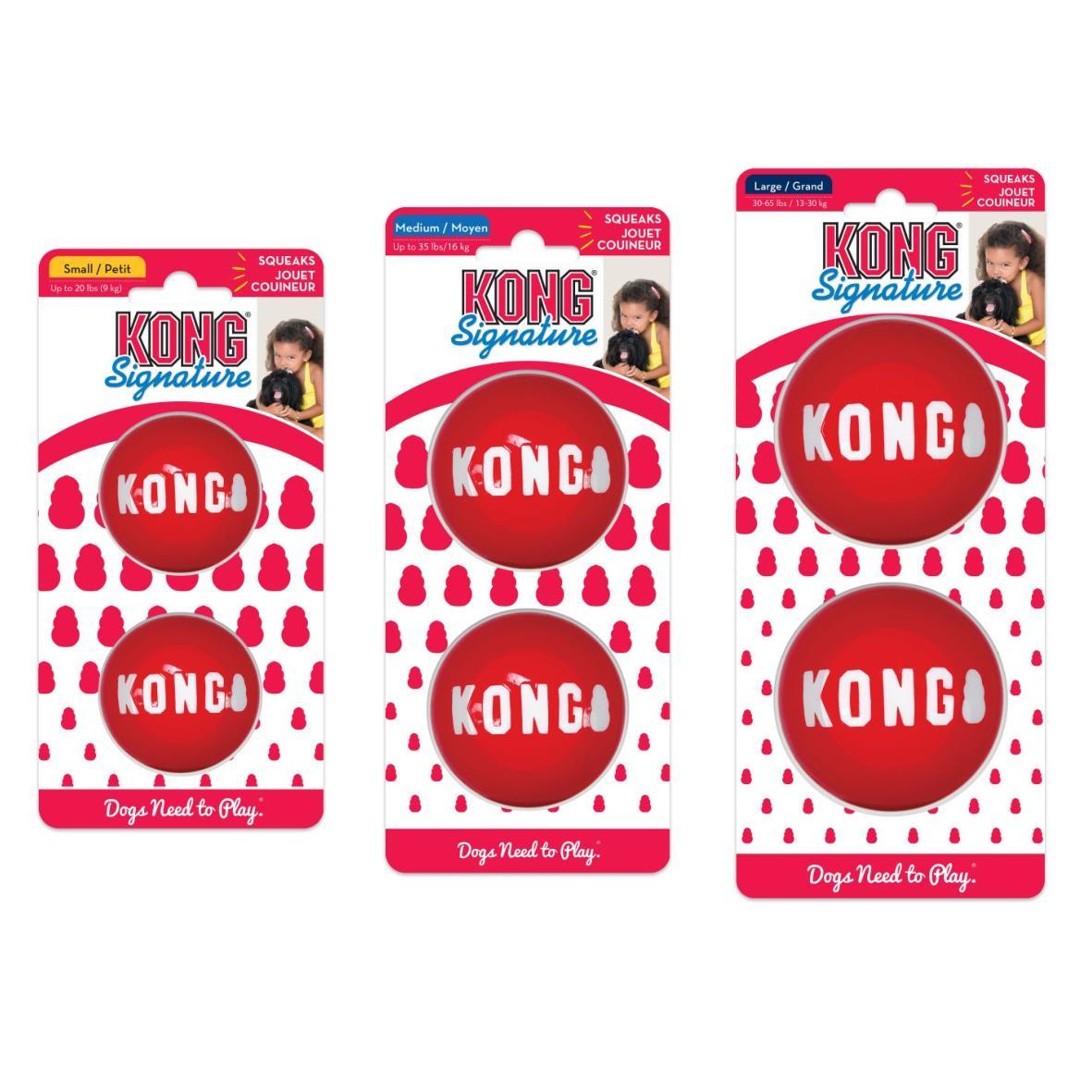KONG Signature Balls Red 2pcs