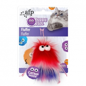 All for Paws Furry Ball Fluffer Red