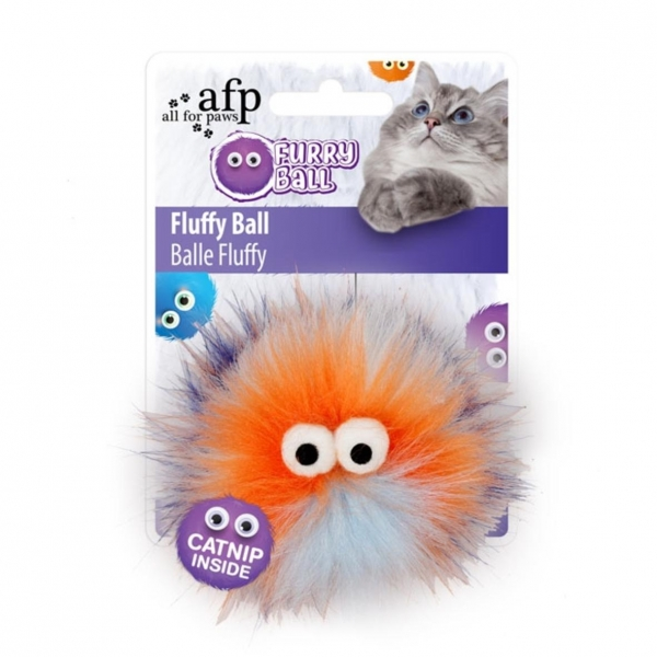 All for Paws Furry Ball Fluffy Ball Orange