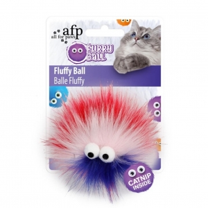 All for Paws Furry Ball Fluffy Ball Red