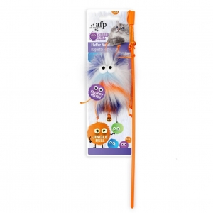 All for Paws Furry Ball Fluffy Wand Orange