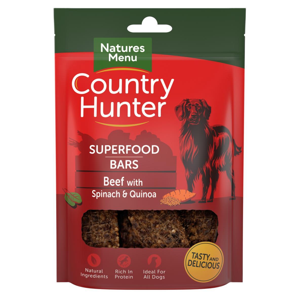 Natures Menu Country Hunter Superfood Bars Beef 100gm