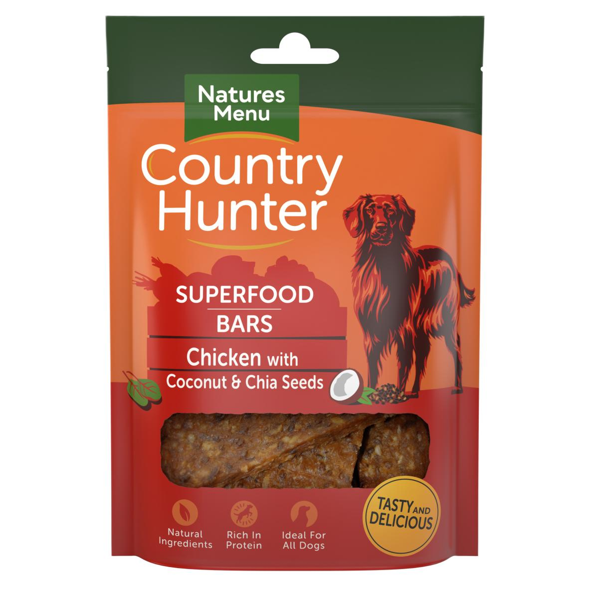 Natures Menu Country Hunter Superfood Bars Chicken 100gm