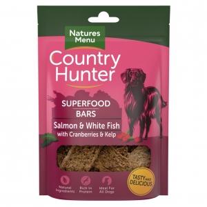 Natures Menu Country Hunter Superfood Bars Salmon & White Fish 100g