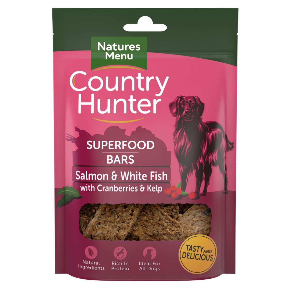 Natures Menu Country Hunter Superfood Bars Salmon & White Fish 100gm