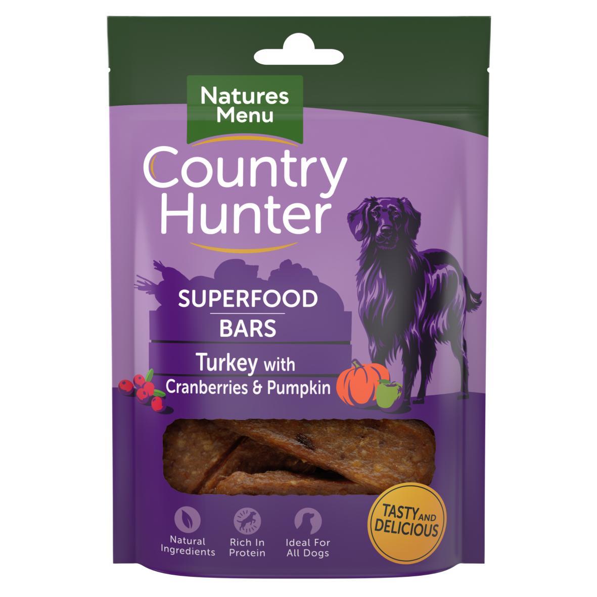 Natures Menu Country Hunter Superfood Bars Turkey 100gm
