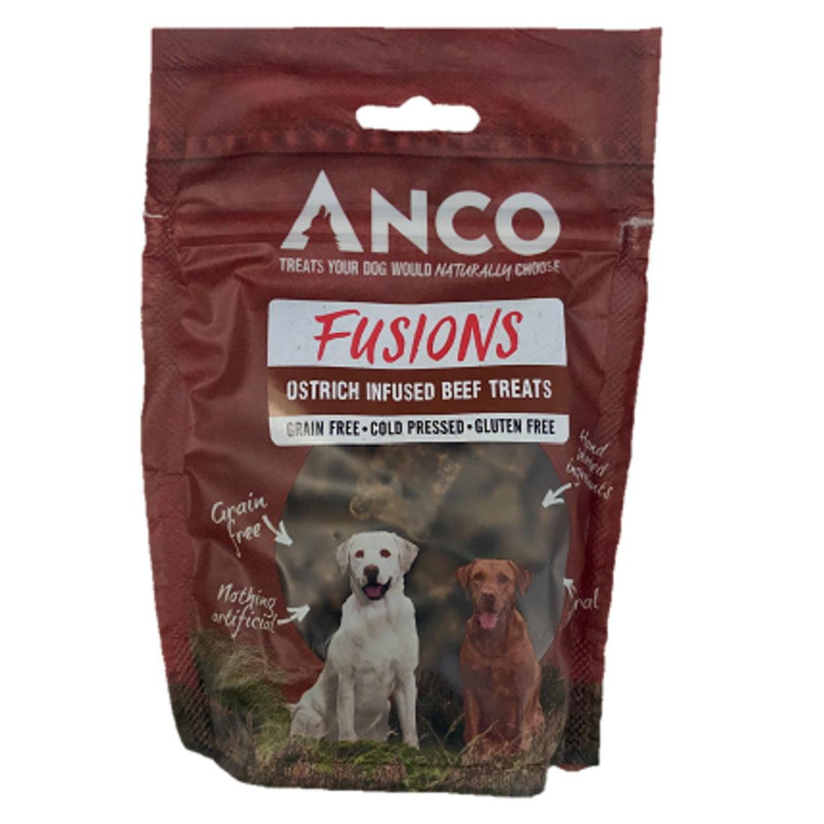 Anco Fusions Ostrich Infused Beef Treats 100gm