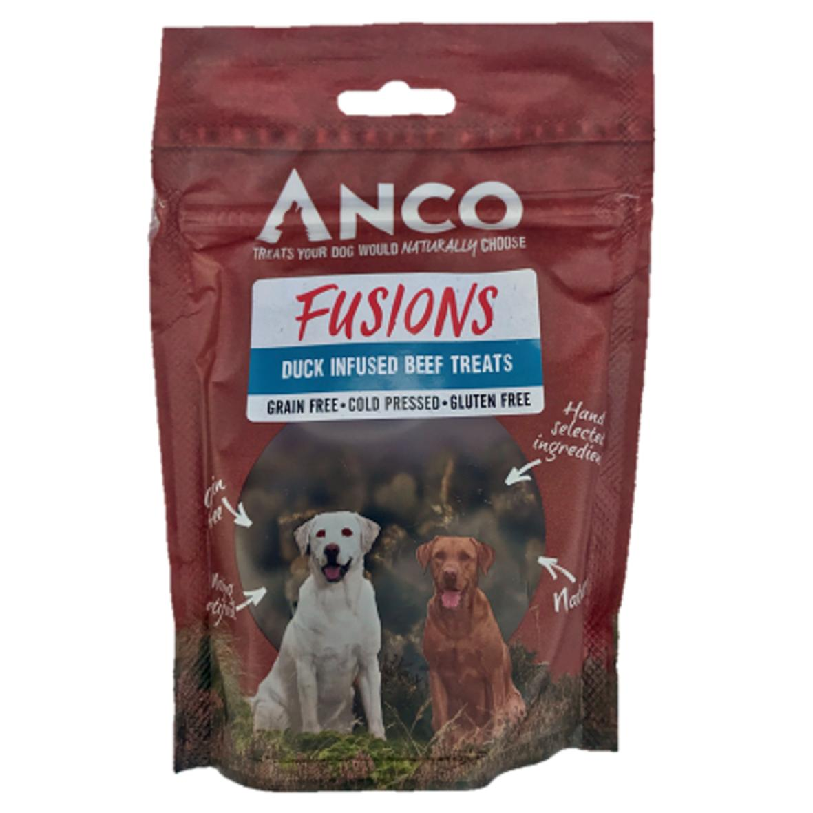 Anco Fusions Duck Infused Beef Treats 100gm
