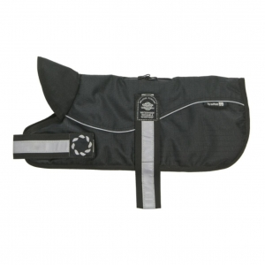 Animate Padded Harness Dog Coat Black