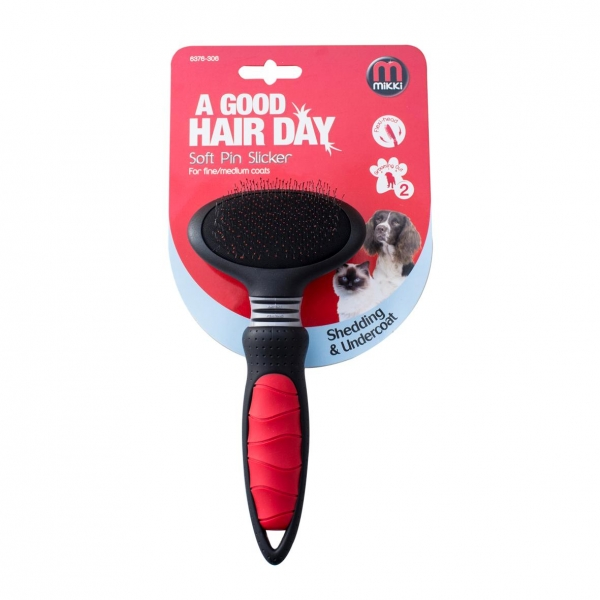 Mikki Soft Pin Slicker Brush SMALL