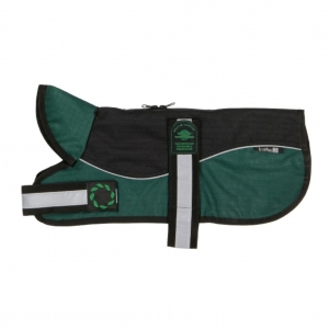 Animate Two-Tone Harness Dog Coat Black/Green