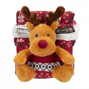 Scruffs Santa Paws Blanket & Reindeer Gift Set