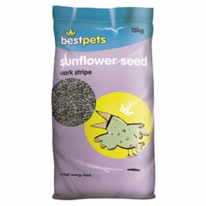 BestPets Sunflower Seeds Dark Stripe 15kg