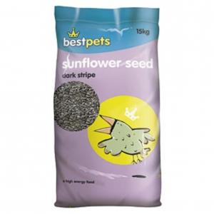 BestPets Sunflower Seeds Dark Stripe 15kg