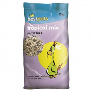 BestPets Tropical Mix Parrot Food 15kg