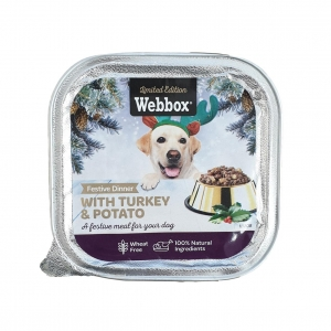 Webbox Festive Dinner with Turkey & Potato 150gm