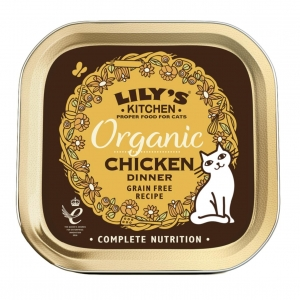 Lilys Kitchen Organic Chicken Dinner for Cats 85gm