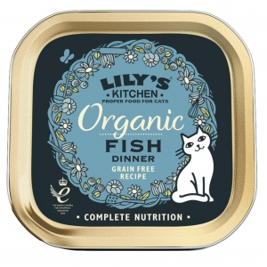 Lilys Kitchen Organic Fish Dinner for Cats 85gm