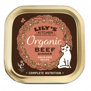 Lilys Kitchen Organic Beef Dinner for Cats 85gm