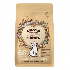 Lilys Kitchen Delicious Chicken & Herbs Dry for Cats