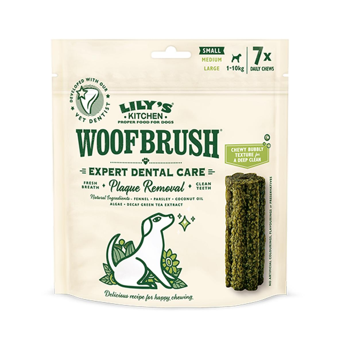 CLEARANCE Lilys Kitchen WoofBrush Daily Chews Small 1-10kg 7pcs