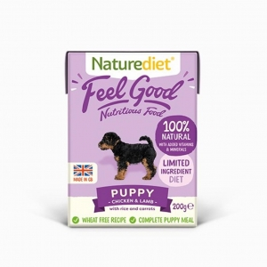 Naturediet Feel Good Puppy Chicken with Turkey, Rice and Carrots 18 x 200gm