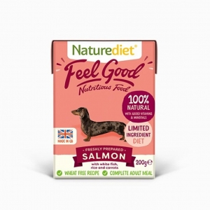 Naturediet Feel Good Salmon with White Fish, Rice and Carrots 200gm