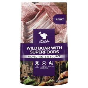 Billy + Margot Wild Boar with Superfoods Pouches 12 x 150gm