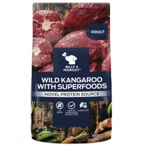 Billy + Margot Wild Kangaroo with Superfoods Pouches 12 x 150gm