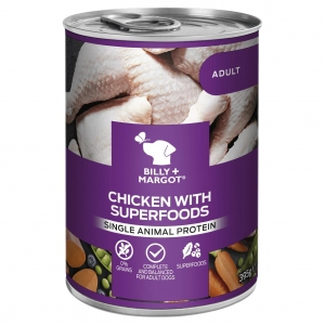 Billy + Margot Chicken with Superfoods Cans 12 x 395gm