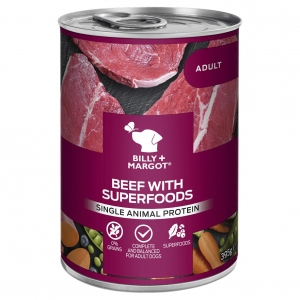 Billy + Margot Beef with Superfoods Cans 12 x 395gm