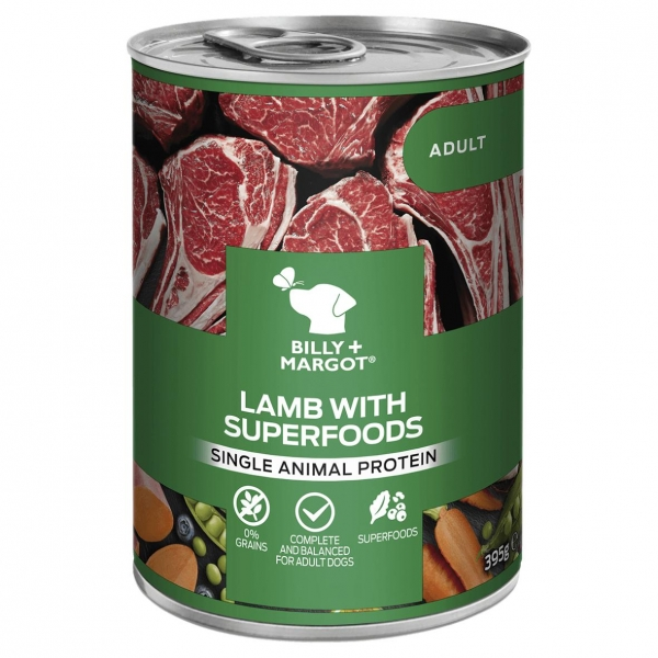 Billy + Margot Lamb with Superfoods Cans 12 x 395gm