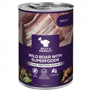 Billy + Margot Wild Boar with Superfoods Cans 12 x 395gm